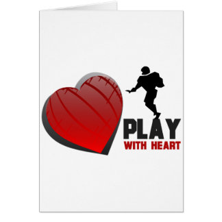 Play With Heart Football Greeting Cards