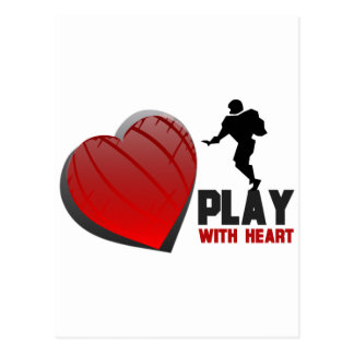 Play With Heart Football Post Cards
