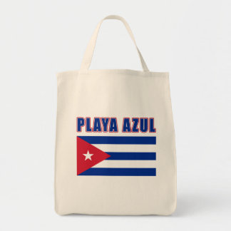 PLAYA AZUL Cuba Beach Tshirts, Gifts Canvas Bags