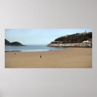 Playa de la Concha en Donostia - San Sebastián Impresiones