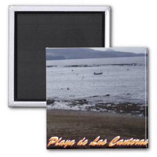 Playa de Las Canteras Square Magnet