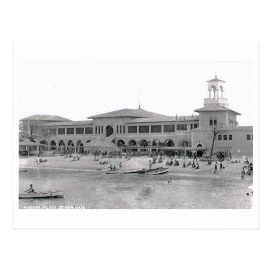 Playa de Marianad Hotel, Havana, Cuba Vintage Postcard