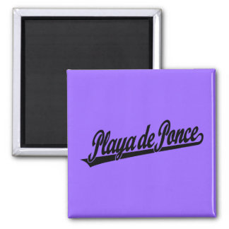 Playa de Ponce script logo in black Refrigerator Magnets