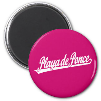 Playa de Ponce script logo in white Refrigerator Magnets