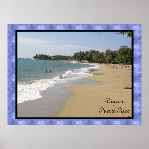 Playa de Rincon En Puerto Rico Posters
