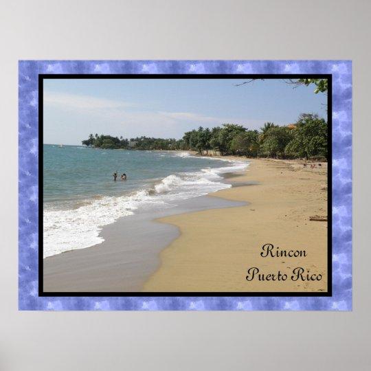 Playa de Rincon En Puerto Rico Poster