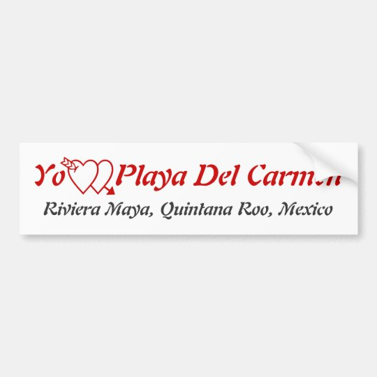 Playa Del Carmen, Quintana Roo Riviera Maya Mexico Bumper Sticker