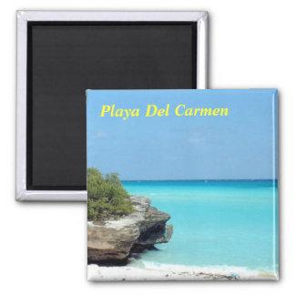 Playa Del Carmen Square Magnet