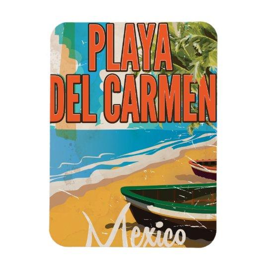 Playa del Carmen Vintage travel poster print Rectangular Photo Magnet
