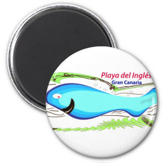 Playa del Ingles Gran Canaria 6 Cm Round Magnet