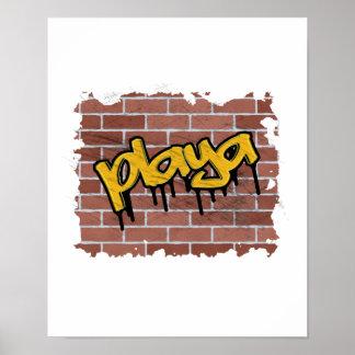 playa graffiti design poster