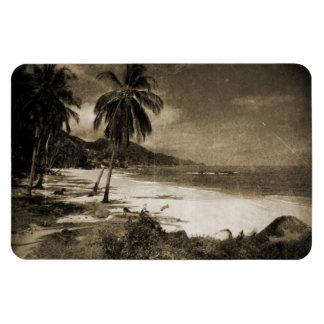Playa Los Caballos Antique Rectangular Photo Magnet