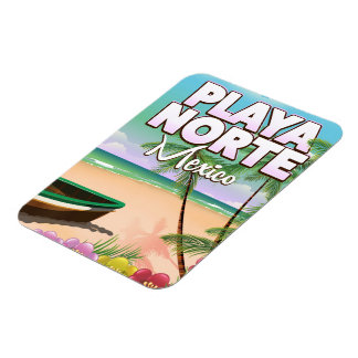 Playa Norte Mexican beach poster Magnet