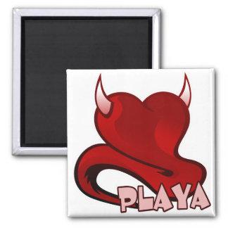 Playa Player Devilish Heart Refrigerator Magnet