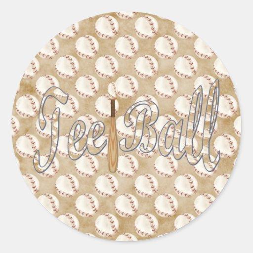 Playball Tee Ball Sticker