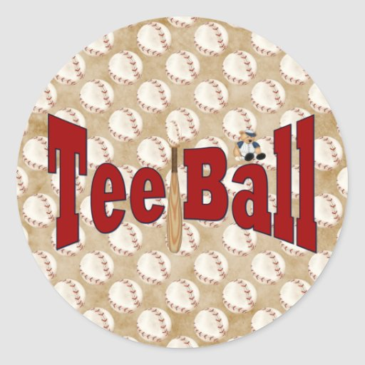 Playball Tee Ball Stickers