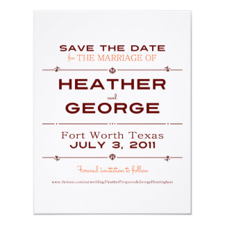 playbill Save the date 11 Cm X 14 Cm Invitation Card