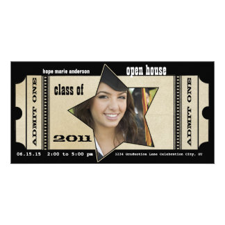 Playbill Senior Pictures Graduation Invitation Photo Greeting Card