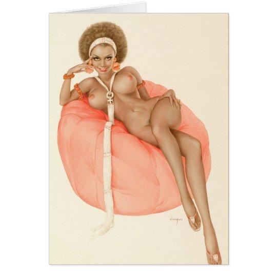 Playboy black nude pinup card