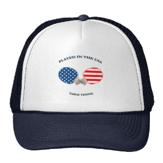 Played in USA Table Tennis Hats
