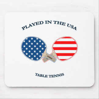 Played in USA Table Tennis Mouse Pads