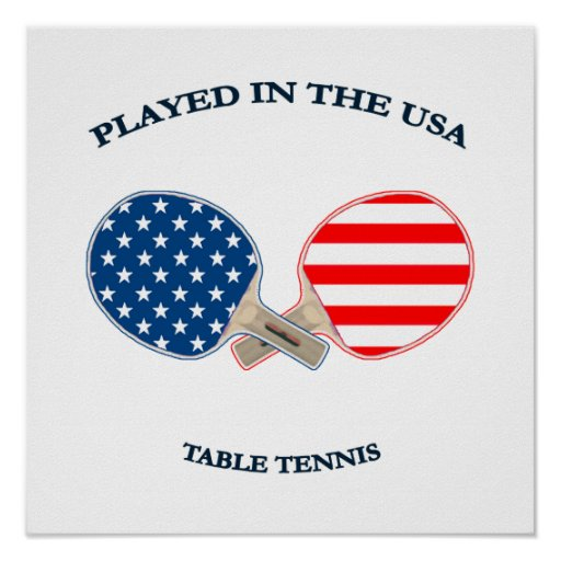 Played in USA Table Tennis Poster