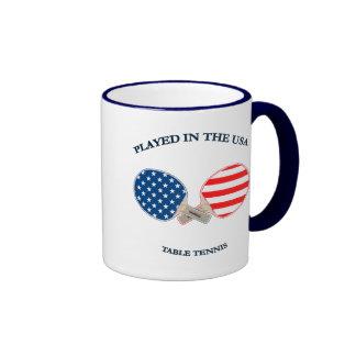 Played in USA Table Tennis Ringer Mug