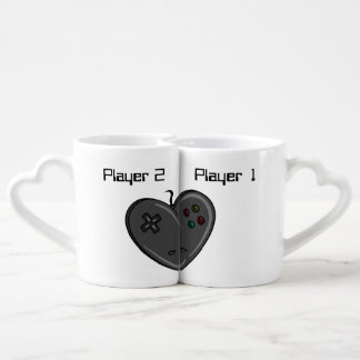 Player 1 & 2 Couple Gamer Heart Lovers Mug