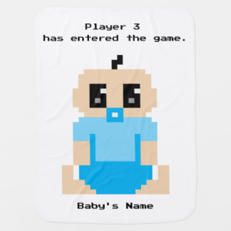 Player 3 Has Entered The Game Baby Boy Blanket
