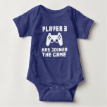 Player 3 has joined the Game funny baby Baby Bodysuit