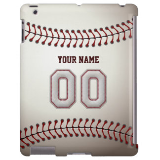Player Number  00 - Cool Baseball Stitches Look iPad Case