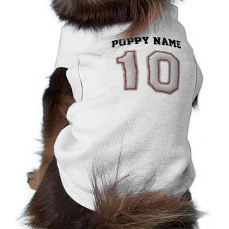Player Number 10 - Cool Baseball Stitches Sleeveless Dog Shirt