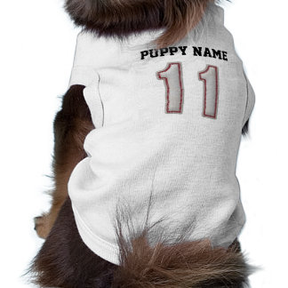 Player Number 11 - Cool Baseball Stitches Sleeveless Dog Shirt