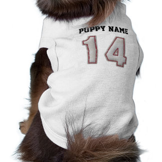Player Number 14 - Cool Baseball Stitches Sleeveless Dog Shirt
