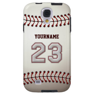 Player Number 23 - Cool Baseball Stitches Look Galaxy S4 Case