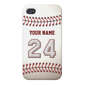 Player Number 24 - Cool Baseball Stitches iPhone 4 Cover