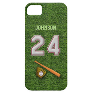 Player Number 24 - Cool Baseball Stitches iPhone 5 Cases