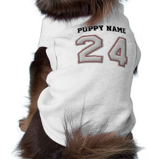 Player Number 24 - Cool Baseball Stitches Sleeveless Dog Shirt