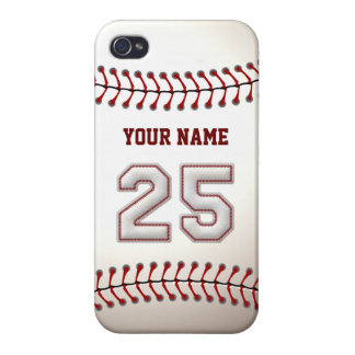 Player Number 25 - Cool Baseball Stitches iPhone 4 Cases