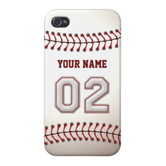 Player Number 2 - Cool Baseball Stitches iPhone 4 Case
