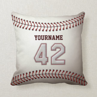 Player Number 42 - Cool Baseball Stitches Cushion