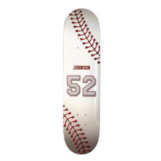 Player Number 52 - Cool Baseball Stitches Skate Boards