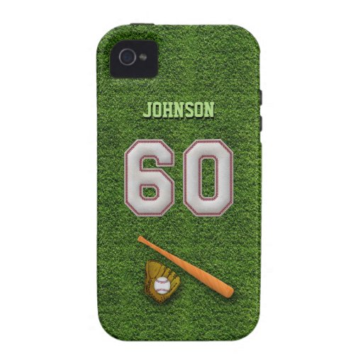 Player Number 60 - Cool Baseball Stitches Case-Mate iPhone 4 Cases