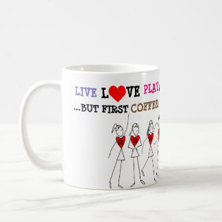 Player Positions and Funny Love Netball Quote Coffee Mug