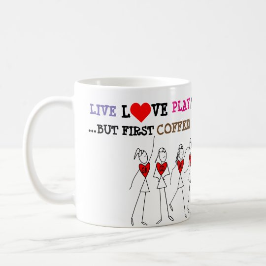 Player Positions and Funny Love Netball Quote Coffee