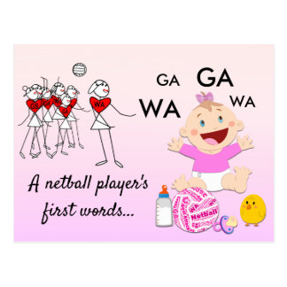 Player Positions Themed Funny Netball Quote Postcard