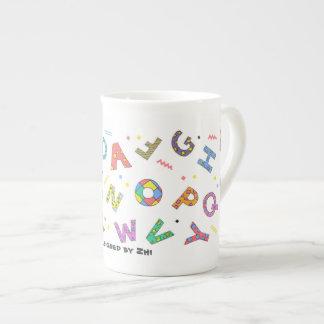 Playful Alphabet Bone China Mug