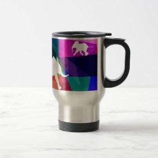 Playful baby elephant thermo mug
