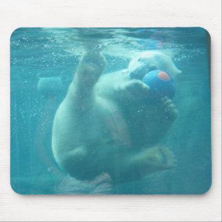 Playful Baby Polar Bear Mousepad