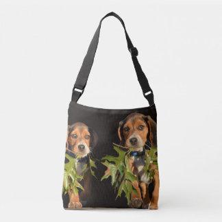 Playful Beagle Brothers Puppies Crossbody Bag
